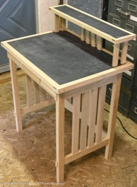The basic desk - dry fit.