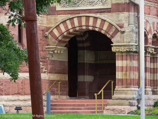 Entrance to the Woburn Library.