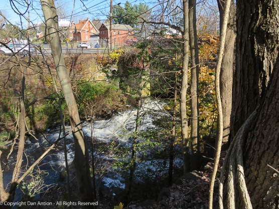 This is the runoff from the dam at Mill Pond. Below this, is another dam that provided the power to operate the mill.