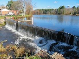 The dam on Broad Brook creates the Mill Pond. There are dams like this all over New England.