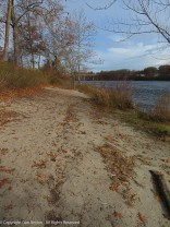 Beach! There aren't many places along the path where you can access the river.