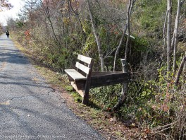 There were a number of these benches along the canal side of the path.