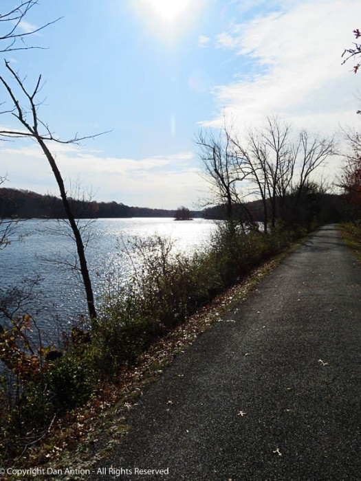 It was a beautiful day for a walk along the river.