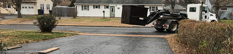 Here comes my dumpster.