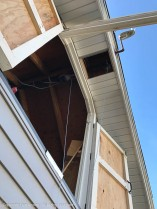 Once the doors are open to the storage area, the hoist can be deployed.