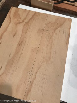 A simple mark indicates where to cut the biscuit slots.