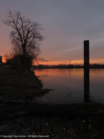 Looking south along the CT River from Great River Park.