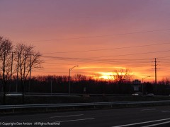 Sunrise over the highway.