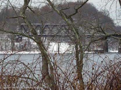 This part of the bridge spans the Windsor Locks Canal