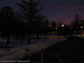 Hartford, early in the morning.
