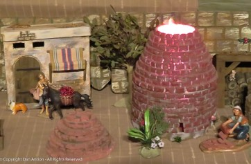 This is a model of the beehive kiln at Old Sturbridge Village.