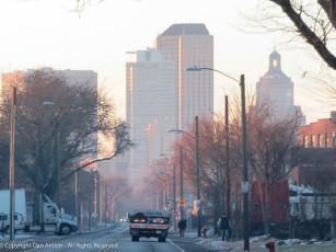 Foggy morning in Hartford.