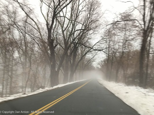 This road runs along the Connecticut River.