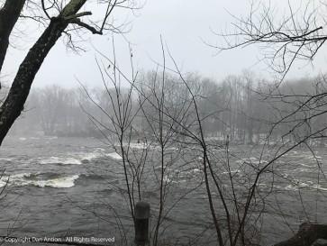Farmington River running high.