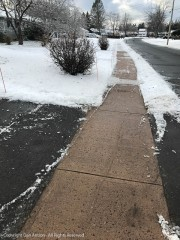 Five days later, we're still one of the only houses with a clear sidewalk.