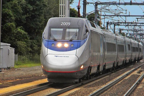 """This is the Acela. If you don't recognize the nose, it says """"Acela"""" in letters about 6' tall on the side."""