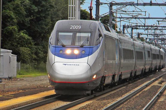 "This is the Acela. If you don't recognize the nose, it says ""Acela"" in letters about 6' tall on the side."