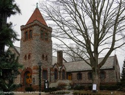 St. John's Episcopal Church. The congregation was founded 1790. This building was built about 100 years later.