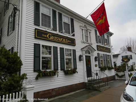 The Griswold Inn dates back to 1776. This is not the Inn, it's across the street behind a parked truck. This is the Inn's store.