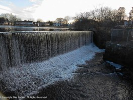 This dam and the water behind it used to power one of the largest carpet mills in the country.