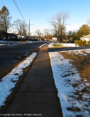 Saturday brought relatively warm rain, and melted most of the snow.