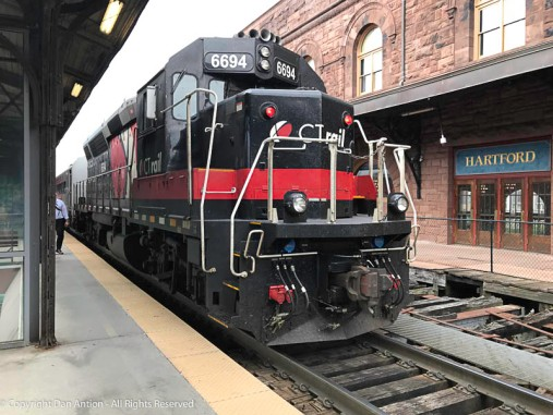 CT Rail - The Hartford Line locomotive.