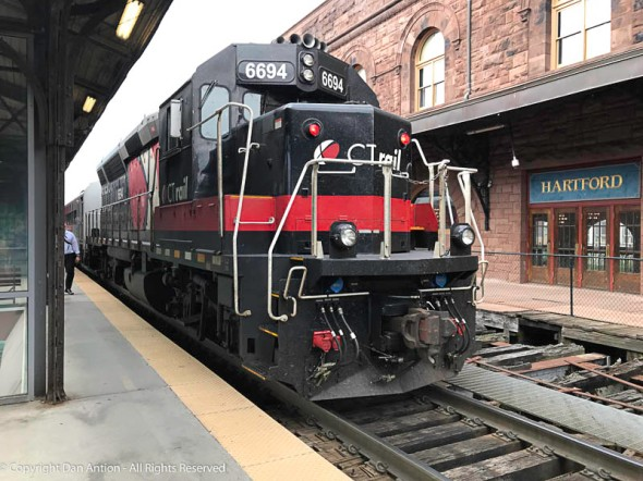 CT Rail - The Hartford Line locomotive.