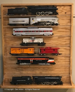 I think the train on the bottom is the Loco and coal car that were in my brother's train set (or maybe the one on top). The one above it is my favorite.