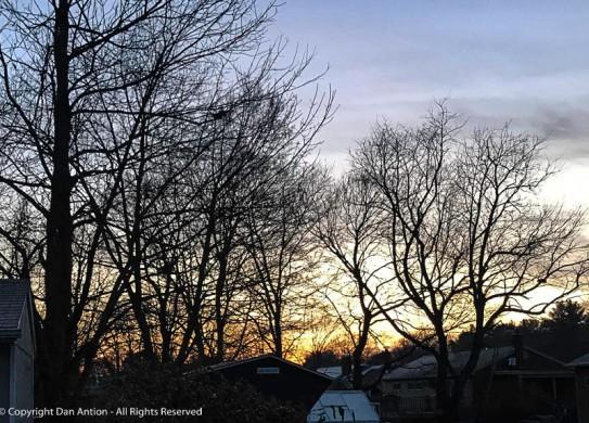 Sunrise in the neighborhood.