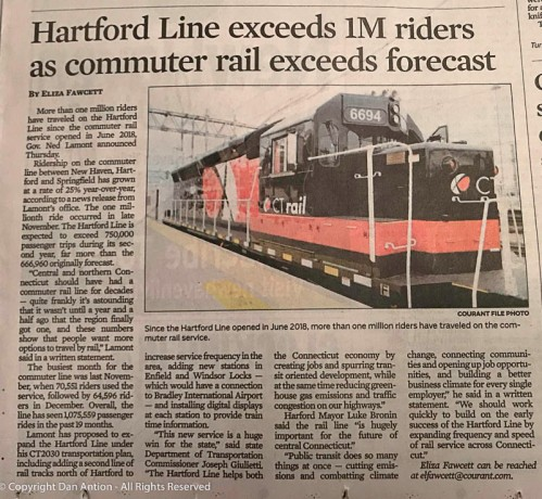 Great news for the Hartford Line.