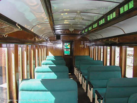 Restored coach car on the Green Mountain Railroad.