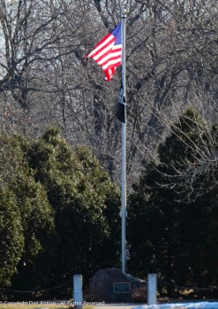 I love it when we see this flag with the sun rising behind it.