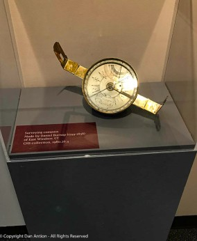 Daniel Burnap made this compass for map mapping. He also made some of the items featured in the posts on the Connecticut River Museum
