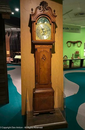 Every tall clock has a door. This one is beautiful.