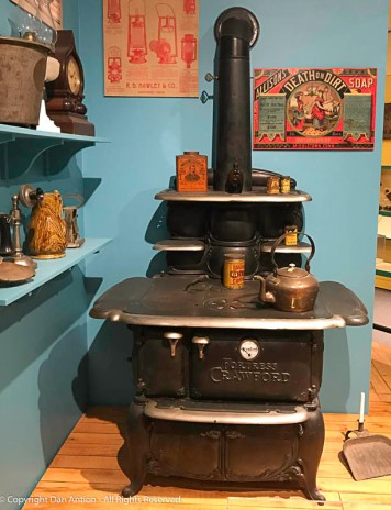 Cast iron wood stove. I think my wife would enjoy cooking on this.