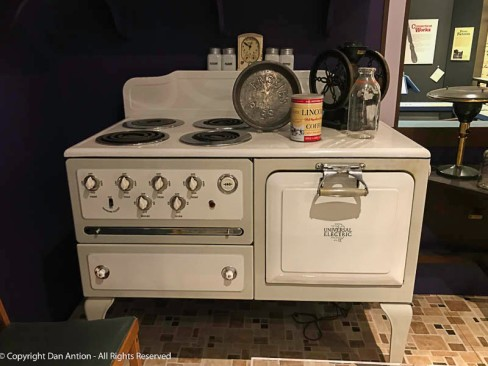 One of the early electric stoves