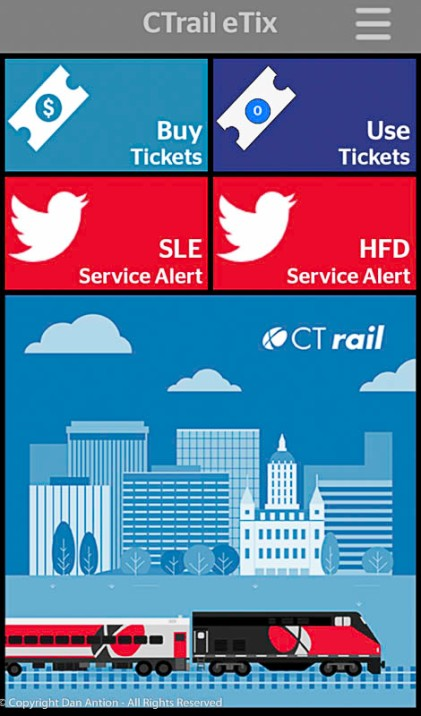 Good news! CT Rail finally released their mobile app.