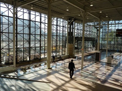 Inside the Javits Center. You've seen these doors before, but not this image. I can sit and stare at this building all day.