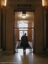 This is the exit from New Haven's Union Station to the taxi stand. I always liked this photo.
