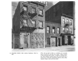 """From Brad - """"Some doors for Dan...I suspect the larger ones are garage/stable doors."""" New York in the Thirties By Berenice Abbott"""
