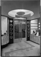 """From Brad - """"I wonder how this rates on the Antion door scale....."""" Stetson Shoe Store, 385 Fifth Avenue. October 18, 1937 - Gottscho"""