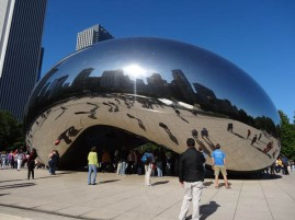 The Bean in Chicago. I'm not sure you can call the arch a door, but people were going in and out, and I love this photo.