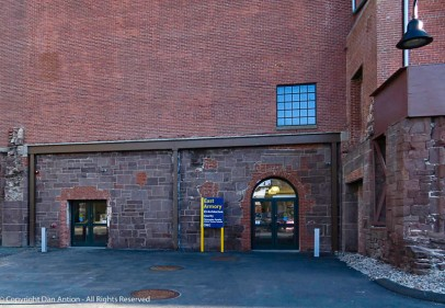 Entrance to the East (main) Armory.