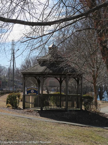 This is a small riverside park on the other side of the CT River from my town. That power pole is the north pole of the pair that carries the current over the river.