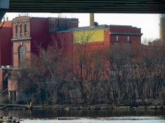 This is Hartford's trash-to-energy plant. Or town's trash is incinerated here.