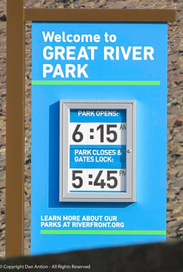 They don't really lock the gates. The park is open dawn to dusk, and dawn won't be at 6:15 tomorrow.