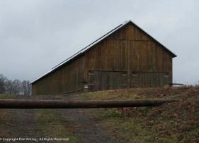 This is a tobacco barn that i don't often see. The area in the foreground grows pretty tall in the summer.