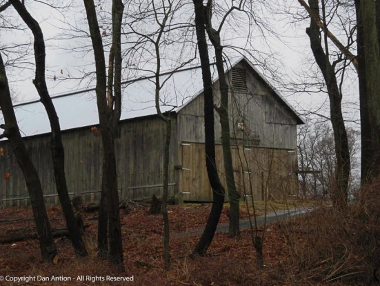 This tobacco barn is relatively new. I remember driving by when it was being built.