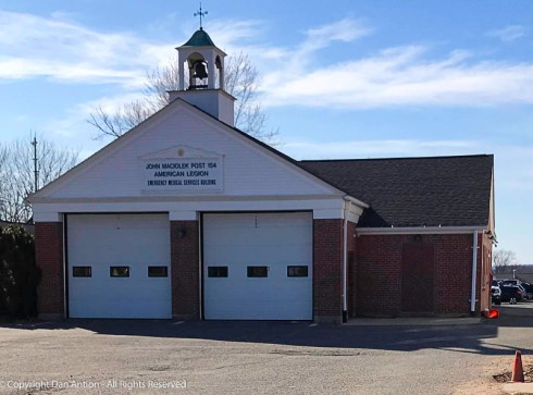 This once was a fire station in nearby Enfield, CT. Now it's an American Legion Post.