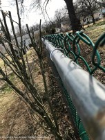 The fence fix is complete. This is how it's supposed to look - slightly over the top.